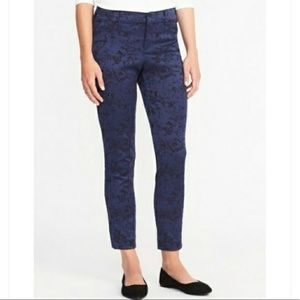 Pants - Blue Jacquard Pixie Pants